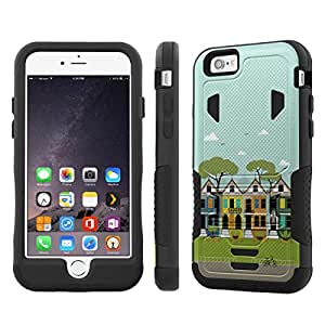NakedShield Iphone 6 (4.7) (Little Town) Armor Tough ShockProof Phone KickStand Case