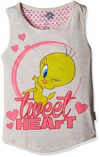 Tweety Girls' Top (TW0EGT1621_Oatmeal Melange_2 - 3 years)