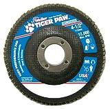 Weiler 51160 Tiger Paw XHD Super High Density Abrasive Flap Disc, Type 27 Flat Style, Phenolic Backing, Zirconia Alumina, 4-1/2'' Diameter, 7/8'' Arbor, 36 Grit, 12000 RPM (Pack of 10)