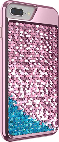 Body Glove Shimmer Reversible Sequins Phone Case for iPhone 6 Plus, 6s Plus, 7 Plus, 8 Plus - (Best Body Glove Iphone Case 6 Plus)