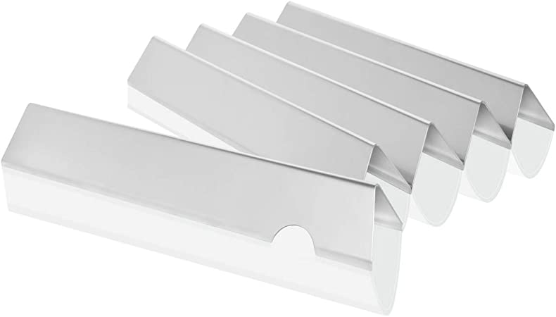 Set of 5 Stainless Steel Flavorizer Bars Broilmann Stainless Steel Flavorizer Bars Replacement for Weber 66032 and Genesis II 300 Series Gas Grill
