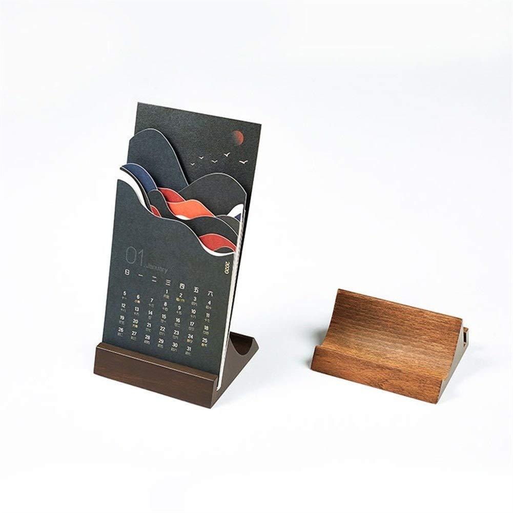 New 2020 Mountain River Calendar Wooden Desk Calendar Calendar Decoration Business Corporate Story Story Calendar by WPCBAA