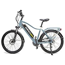 Electric Bike for Adults by Surface 604 | Comfortable And Powerful eBike Including Stand, Rack, and Fenders | Designed For An Effortless Cruise Without any Sweat or Effort | Rook - M/L, White