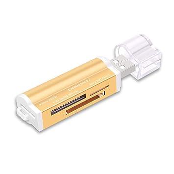 4 en 1 Lector Tarjetas Micro SD SD USB 2.0 para MicroSD,SD,Mini ...