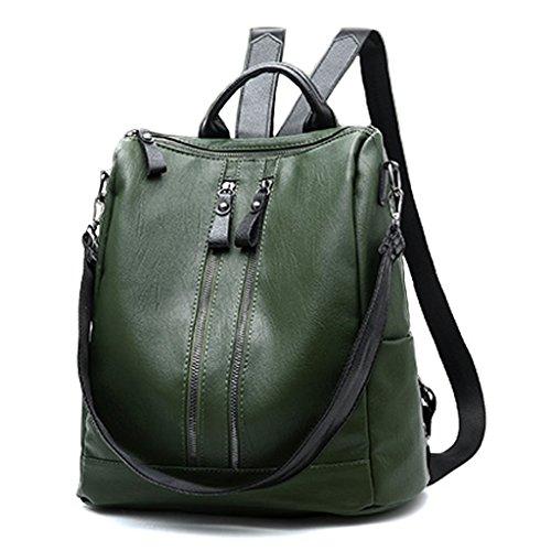 Signore Spalla Unità Elaborazione Nero Rosso Personalità Selvaggia Moda Coreana Grande Borsa Verde Zaino Di colore Delle Abbigliamento Capacità 5gxwn76tPq