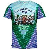 Old Glory Woodstock 1969 - Mens All Roads T-shirt X-large Light Blue