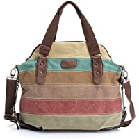 Ourbag Canvas Satchel Women Messenger Bag (Stripe)