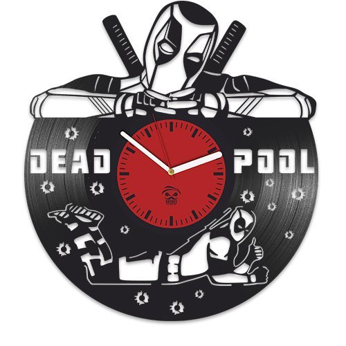 Deadpool Vinyl Clock, Wade Ryan Reynolds, Film Vinyl Record