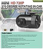 XTRONS Mini HD 720P Car DVR Recorder Video Camera Built-in G-Sensor 270 Degree Rotating for XTRONS Car Stereo PX71RVT PX81CVH