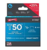 Arrow Fastener 50424 1/4'' T50 Staples