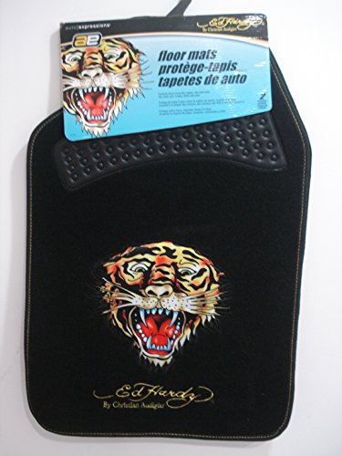 Floor Mats with Ed Hardy Tiger Design (Set of 2)