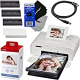 Canon Selphy CP1200 Wireless Color Photo Printer (White) + Canon KP-108IN Color Ink Paper Set (Produces up to 108 of 4 x 6
