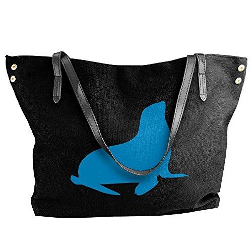 Tote Black Women's Handbags Large Shoulder Seal Canvas Handbag 8Tza6wH