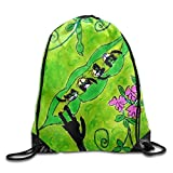 Ping Pong Printed Cute Drawstring Backpack Teen Girl Lightweight Travel Bag Tote Gymnastics