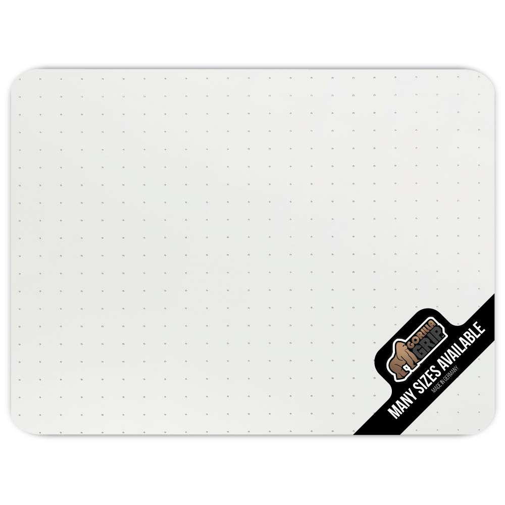 Gorilla Grip Premium Polycarbonate Easy Glide Studded Chair Mat for Carpeted Floor, 48x36, Non-Breakable Transparent Mats for Chairs, Good for Desks, Office and Home, Protects Floors, Clear by Gorilla Grip
