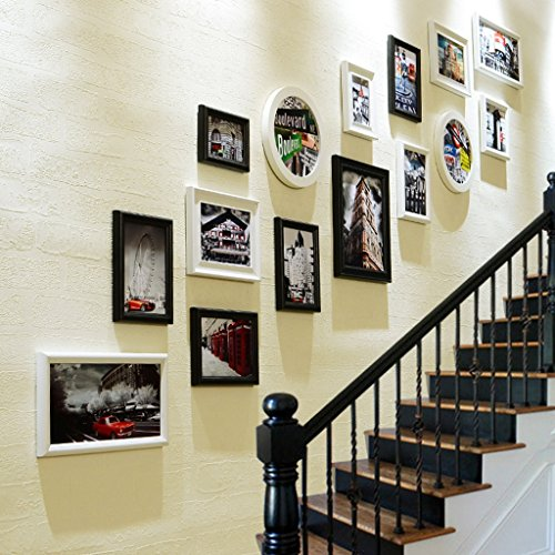 FRAME @Decorative Photo Wall Staircase Decoration Wall Photo Wall Combo Box Hallway Corridor Hanging Picture Wall (Color : D)