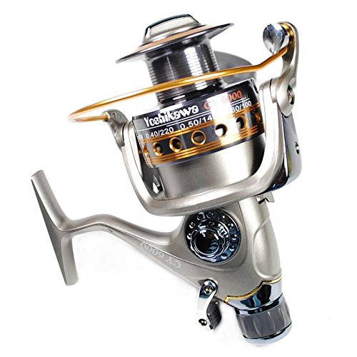 Yoshikawa Carp Sea Fishing Spinning Reel Baitrunner Aluminum Spool Handle...