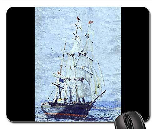 Ship Three Masted (Mouse Pads - Clipper Ship Three Masted Sails Stad Amsterdam Fast 1)