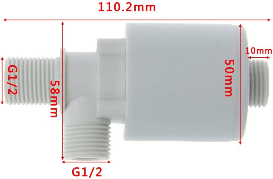 1//2, Parellel Inner Installation Sanmum 1//2inch Auto Water Level Control Valve Automatic Water Tower Water Tank Float Valve for Water Tank Pool