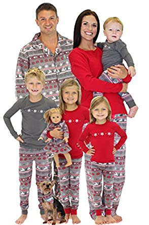Amazon.com: SleepytimePjs Family Matching Christmas Nordic Pajamas ...