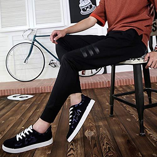 Color 39 Zapatos Transpirables Zapatos Lona Salvaje los Purple de Verano Size de de Tendencia Zapatos Black Hombres de Hombres Casual WangKuanHome qHpa4p