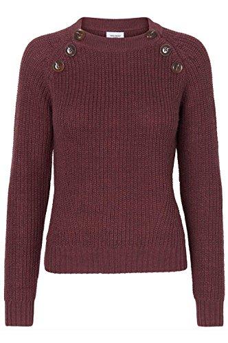 Vero Moda Blusas para Mujer Suéter con botones Vmjoya - Rojo