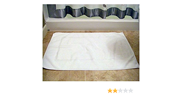 4 new white cotton hotel seville and home bath mats size 20x30 100/% cotton