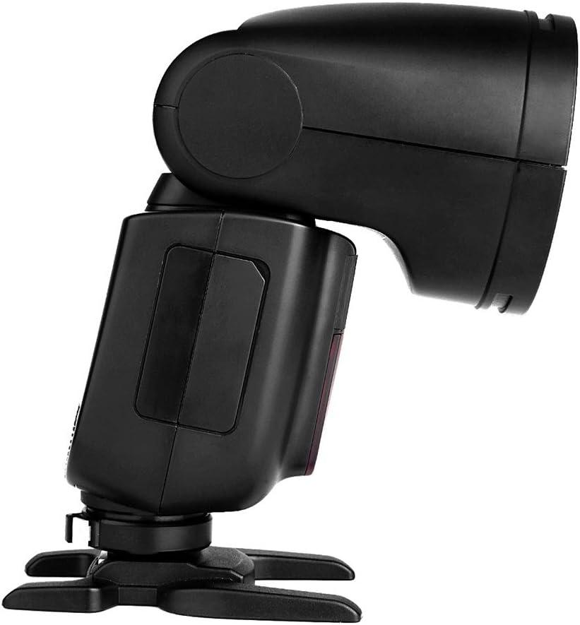 2.4G TTL Round Head Speedlight 2600mAh Battery 1.5s Recycle Time 1//8000 HSS w//One Additonal Battery//Color Filter Kit Godox V1-C Flash for Canon 10 Level LED Modeling Lamp 480 Full Power Shots