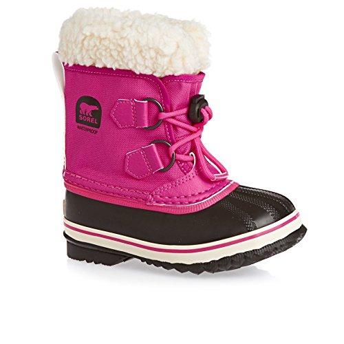Sorel Girls' Yoot Pac Nylon Waterproof Winter Boot Pink 5 M US (Yoot Pac Winter Boots)