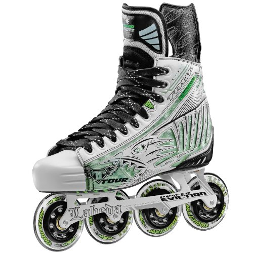 Tour Hockey Pro Fish Bonelite Inline Hockey Skate, White, 11