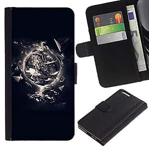 LASTONE PHONE CASE / Lujo Billetera de Cuero Caso del tirón Titular de la tarjeta Flip Carcasa Funda para Apple Iphone 6 PLUS 5.5 / Creation Of Life