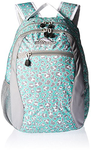 High Sierra Curve Backpack, Mint Leopard/Ash/White