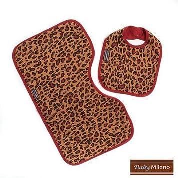 59c2c97c82 Amazon.com   Bib and Burp Cloth in Leopard Print   Baby