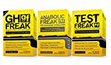 (1)PHARMAFREAK Test Freak Testosterone Booster (1) PHARMAFREAK Anabolic Freak Testosterone Booster and (1) GH Freak -