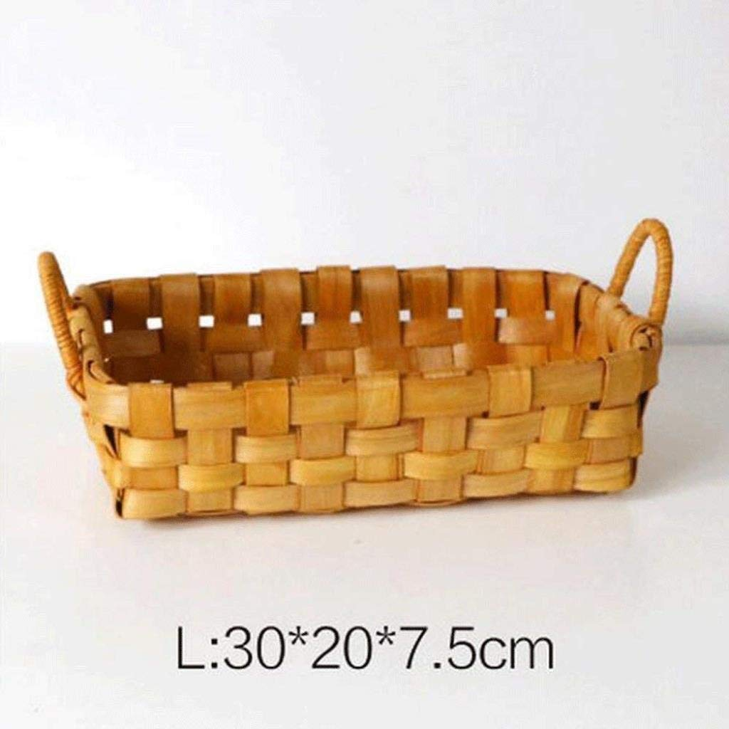 ZXMDMZ Storage Rack Bamboo Rattan Storage Basket Basket Fruit Basket Basket Sundries Snacks Woven Storage Basket Bamboo Basket Bamboo Basket Storage Basket