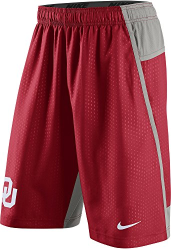 Nike Oklahoma Sooners Men's Fly XL 3.0 Dri-FIT Training Shorts (Medium, Varsity Crimson Red)