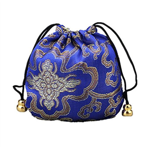 Lilith li 4.3X4.3 inch Silk Drawstring Bag Jewelry Pouch Coin bags Packing: 12 piece / set
