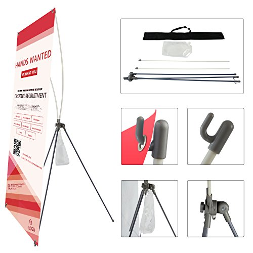 T-Sign Adjustable Heavy duty X Banner Stand Fits Banner Size From 23