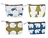 Kyпить iSuperb Pack of 4 Canvas Coin Purse Change Cash Bag Forest and Animals Pattern Small Purse Wallets with Zipper 4.3x3.5 inch (Forest and Animals) на Amazon.com
