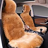 HEIFEN Car Interior Cushions,Soft Fluffy Artificial Wool Cushions Warm Winter Cold,wear-Resistant Anti-Slip Travel,Office,Stadium Seats,Driver's Seat and Co-Pilot, 2, Pieces, Loaded
