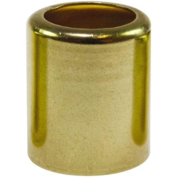 0.343 Pierce Smooth Brass 0.500 Inside Diameter Midland 32-506 Smooth Brass Hose Ferrule 0.025 Gauge 1.000 Length
