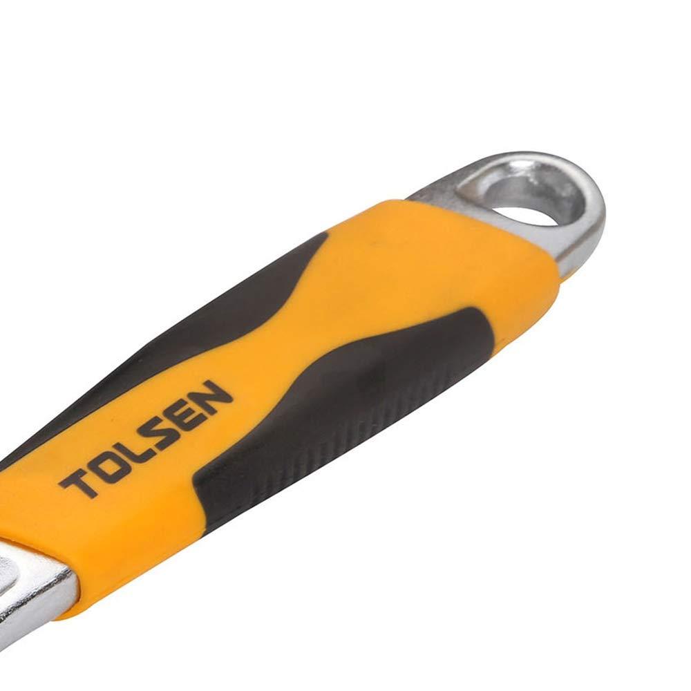 Cablematic Llave inglesa met/álica de 200mm ajustable a 24mm ergon/ómica de herramientas Tolsen