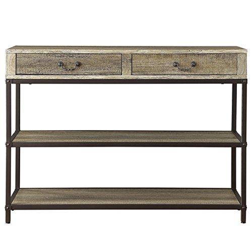 Tribecca Sadie Industrial Rustic Open Shelf 2- Drawers Me...