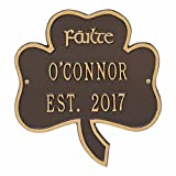 Personalized Shamrock Symbol of Good Luck Address Plaque
