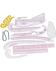 KuCharm Measuring Ruler - 13pcs Sewing French Curve Ruler Measure for Sewing Dressmaking Tailor Rulers Set