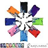 RayLineDo® Expandable blue and white Shopping Bag Reusable Grocery Shopping Tote Bags Convenient Grocery Handy Bags , Shopping Travel Bags 7 PACK
