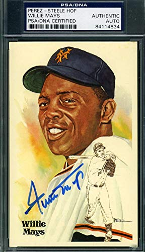 WILLIE MAYS PSA DNA Coa Autograph Perez Steele Hand Signed Authentic