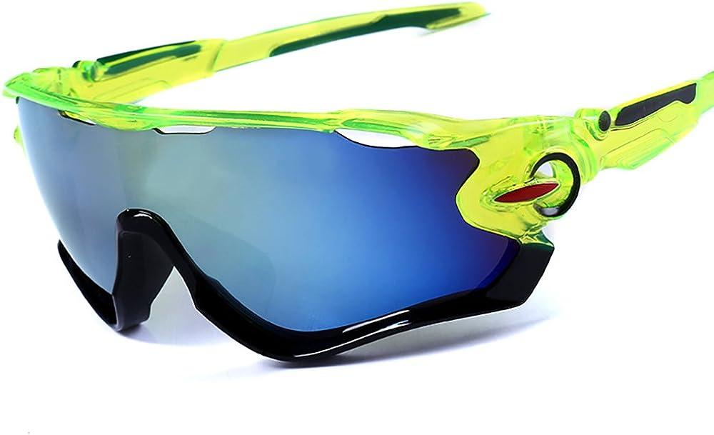 mi ji Gafas de Sol Deportivas Gafas de Ciclismo de Protección UV400, Béisbol, Pesca, esquí, Golf 1pc