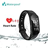 Fitness Tracker - Wearpai Smart Bracelet Waterproof Sport Activity Tracker Large OLED Screen with Heart Rate Monitor Sleep Monitor - Pedometer Wristband for iOS & Android Smartphone