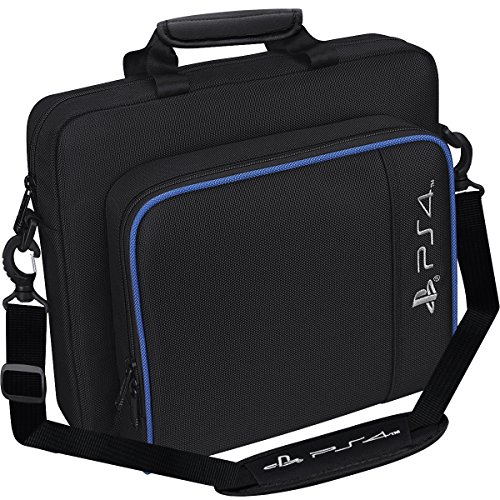 Carrying Case for PS4, Taessv Hard Multifunctional Travel Carry Case Carrying Bag For PlayStation4 PS4 Black